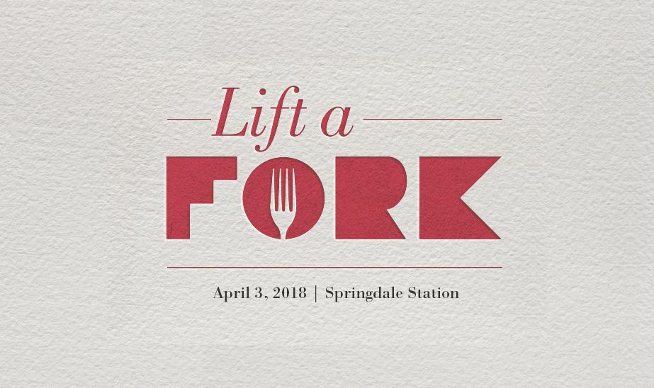Lift a Fork Title Card - April 3, 2018 at Springdale Station