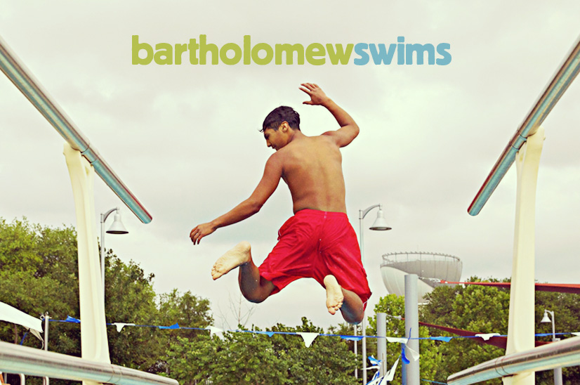 logo image of boy jumping into pool